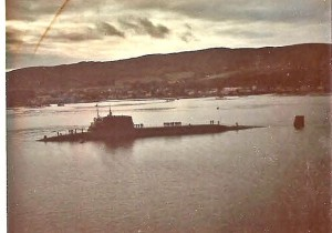 USS James Monroe in the Holy Loch